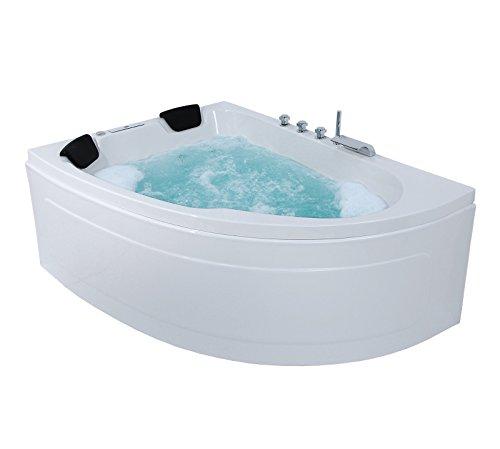 Whirlpool Eckbadewanne - Juist Premium 2 Personen Whirlwanne Indoor Made in Germany Eckwanne NEU inkl. Armatur