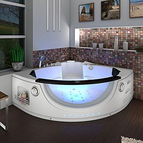 Whirlpool Pool Badewanne Eckwanne Wanne A1506H-ALL 152x152cm Reinigungsfunktion