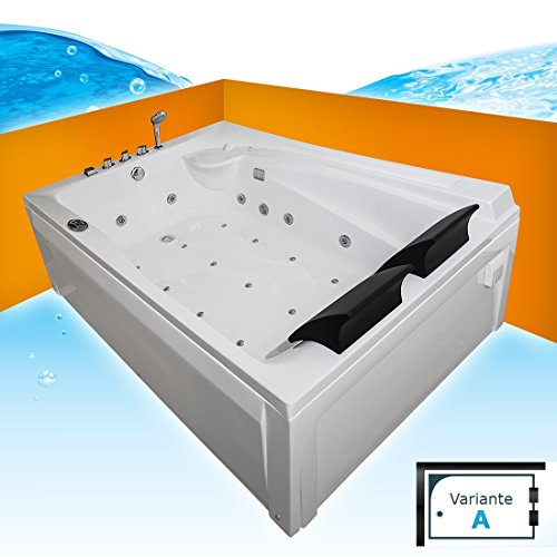 Whirlpool Vollausstattung Pool Eckwanne Wanne A612H-A Reinigungsfunktion 135x180