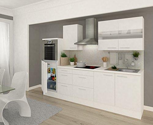 baumarkt direkt Küchenzeile mit E-Geräten »Premium«, Breite 270 cm ohne Aufbauservice, weiß