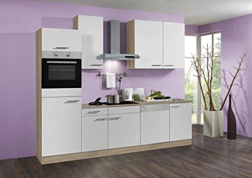 idealShopping Küchenblock mit Geschirrspüler und Ceranfeld Dakar in weiß 270 cm breit