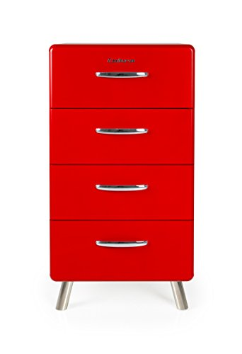 tenzo 4904-028 Cobra Designer Kommode, MDF lackiert, 92 x 50 x 43 cm, rot