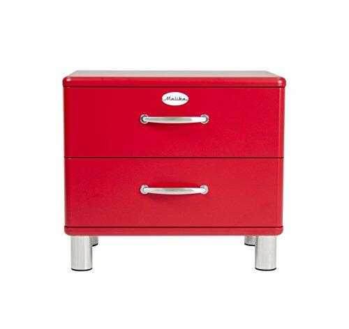 tenzo 5212-028 Malibu Designer Nachtkommode, MDF lackiert, 54 x 60 x 41 cm, rot