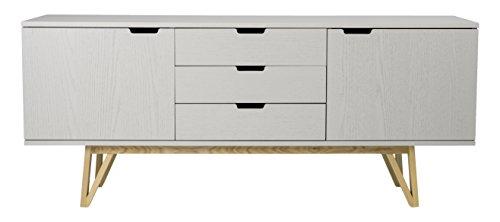 tenzo 6975-912 CROSS - Designer Sideboard, 71 x 170 x 45 cm, grau gebeizt
