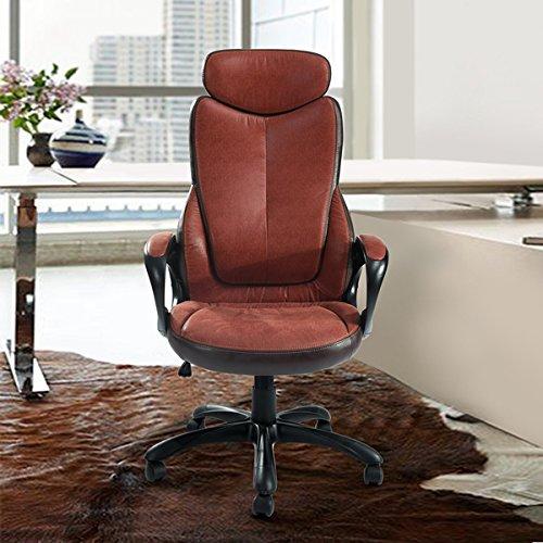 Bürostuhl, Chefsessel verstellbar aus PU Leder mit 5Rollen drehbar Nachhaltige