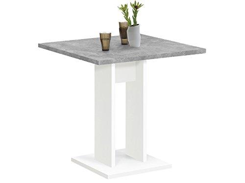 """Esszimmertisch Küchentisch Esstisch Holztisch Speisetisch Tisch """"Yvette I"""" Weiß/Beton LA"""