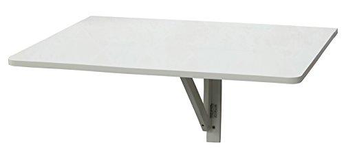 Orolay Küchentisch Holztisch Wandklapptisch Esstisch Schreibtisch Tisch 80x60cm (Weiß)