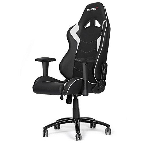 AK Racing Octane Gaming Stuhl schwarz, Kunstleder _ P, Kunstleder, schwarz / weiß, 56x54x14.2 cm