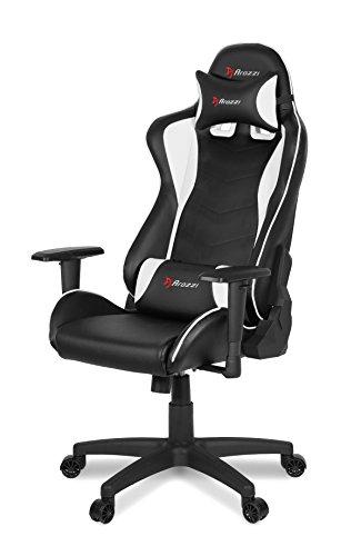 Arozzi Mezzo V2 Gaming Stuhl, Lederimitat, Weiß, 53 x 50 x 137 cm