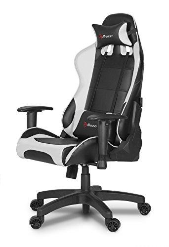 Arozzi Verona Junior Gaming Stuhl, Lederimitat, Weiß, 49 x 47,5 x 123,5 cm
