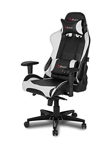 Arozzi Verona XL+ Gaming Stuhl, Lederimitat, Weiß, 58 x 57 x 138 cm