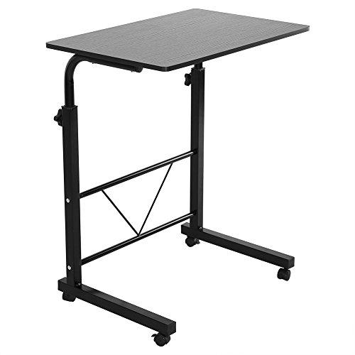 Greensen Laptop Tisch Computertisch Einstellbare Schreibtisch Pflegetisch Beistelltisch (Schwarz)
