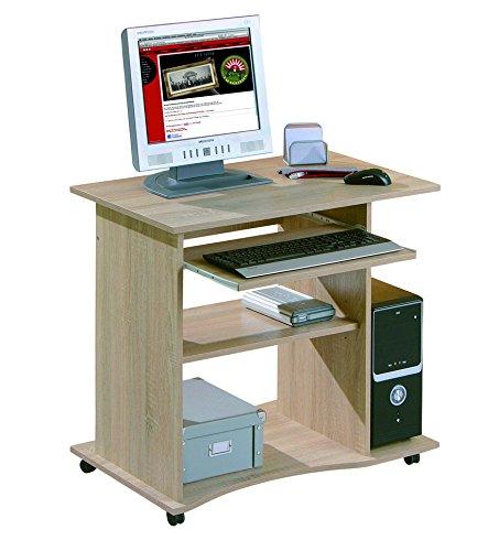 Inter Link 19300030 Schreibtisch Büromöbel Bürotisch Computertisch Arbeitstisch Büro Sonoma Eiche