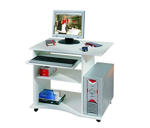 Inter Link Schreibtisch Computertisch Laptoptisch Arbeitstisch Büromöbel MDF Weiss
