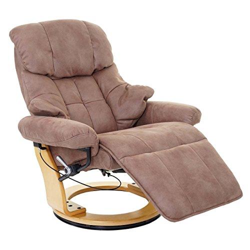 MCA Relaxsessel Calgary 2, Fernsehsessel Sessel, Textil 150kg belastbar ~ antikbraun, naturbraun