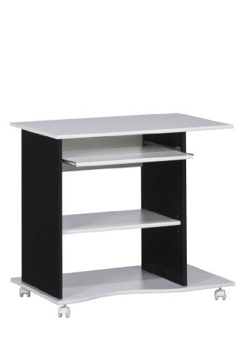 Maja Möbel 4024 3537 Computertisch, weiß uni - schwarz, Abmessungen BxHxT: 80 x 75 x 50 cm