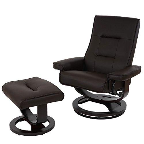 Mendler Relaxsessel Premium, Relaxliege Fernsehsessel TV-Sessel, Premium-Polsterung ~ Kunstleder Braun