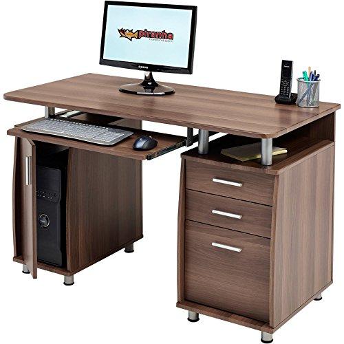 Piranha Trading Großer Computer & Schreibtisch mit Registratur A4,, 2Stationery Schubladen & Schrank