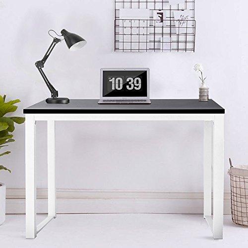 Schreibtisch, Modern, Schlicht, Design, Computertisch, Holz, Arbeitsplatz, Kompakt, Verwendung Zuhause, Büro, Schwarz