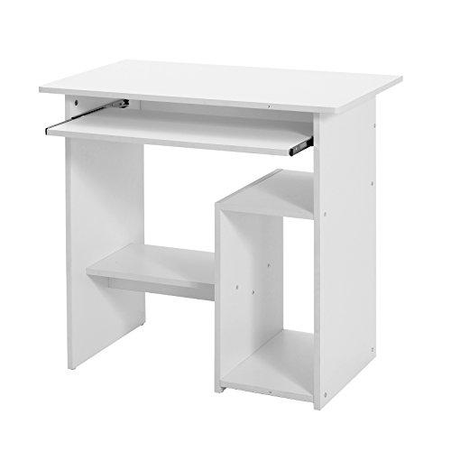 Songmics Schreibtisch Computertisch mit Tastaturauszug PC Tisch Bürotisch Arbeitstisch 80 x 45 x 74 cm LCD852W