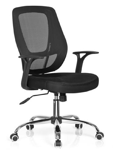 hjh OFFICE 719400 Büro-/Dreh Stuhl, Avido net Stoff, schwarz