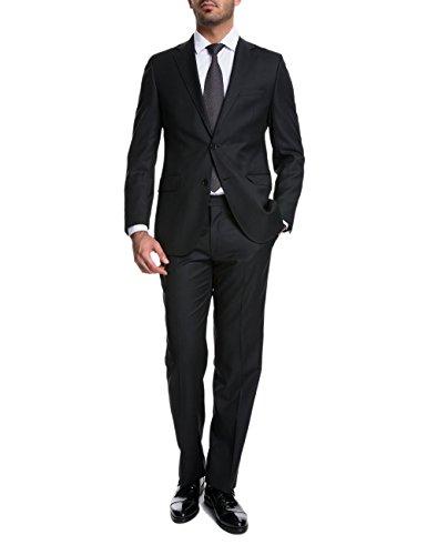 keskin collection Herren Anzug Schwarz Model EROL, verfügbare Größen 43 – 60 (60, Schwarz)