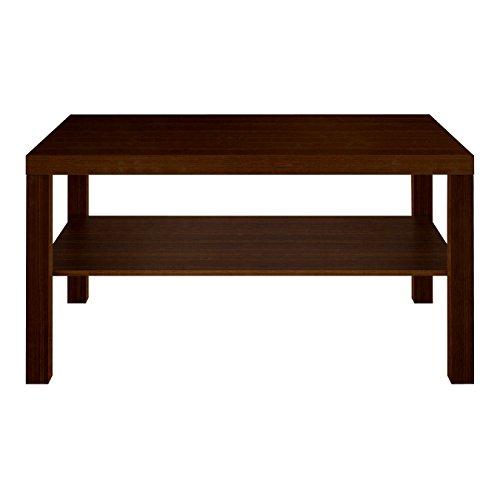 Furniture 247 Rechteckiger Couchtisch mit Ablagefläche- Schwarze Eiche (Black Oak)