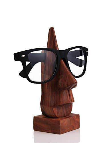 Weihnachtsgeschenke, Holzern Hand geschnitzte Nose geformt Brillengestell Spectacle Inhaber Einzigartige Heim Wohnzimmer Dekor