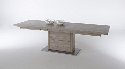 Beauty.Scouts Säulentisch 'Fertilas' Eiche Nelson Tisch Esszimmertisch Esstisch Breite 180 - 280 cm, ausziehbar