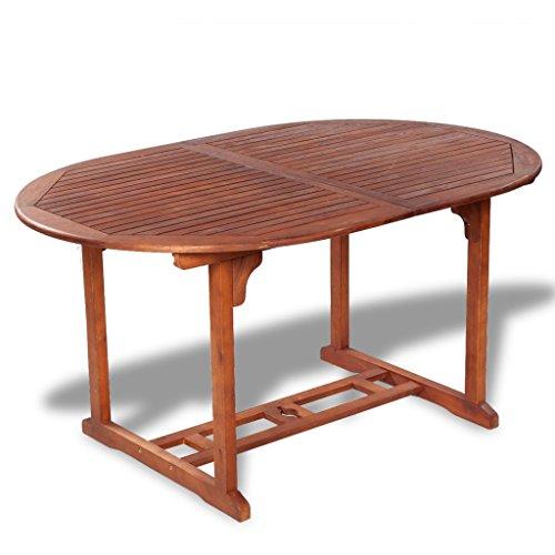 Festnight Ausziehbar Esstisch Gartentisch aus Akazienholz Esszimmertisch Küchentisch (150-200) x100x74cm für Küchen Garten Terrasse - Naturholzfarbe