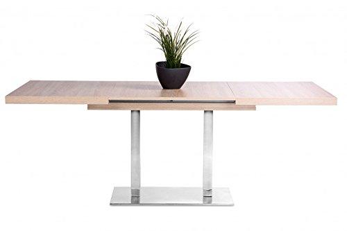 Jadella Esstisch 'Torben' Küchentisch Esszimmertisch 120-200cm Kulissentisch, Farbe:Sonoma Eiche