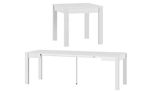 MPS praktisch Tisch Vega 80-230x76x80 cm Quadrat Tisch Esszimmer Tischplatte Ausziehbar Küchentisch, Esszimmertisch, Ausziehtisch
