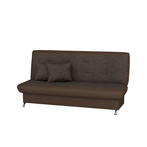 Mirjan24  Schlafsofa Suzana, Bettsofa, Schlafcouch, Couch mit Bettkasten und Schlaffunktion, Sofa, Wohnlandschaft (Soft 030 + Lilu 1803)