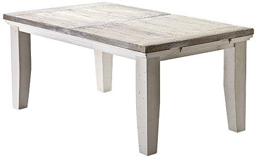Robas Lund, Tisch, Esszimmertisch, Opus , ausziehbar, Kiefer/Massivholz/weiß, 180(220) x 79 x 105 cm, FW608T18