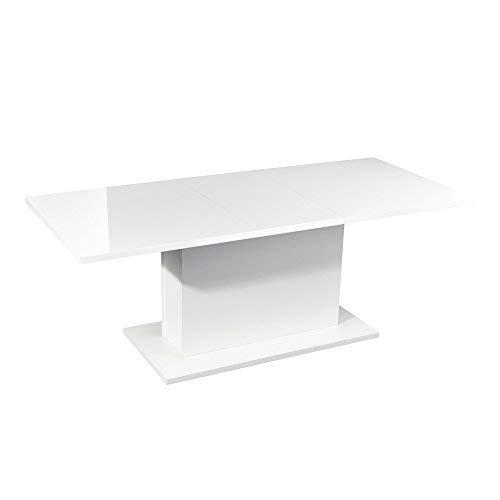 Verlängerung Esstisch Holz Tischplatte Multifunktions Küche Indoor Utility Tisch W/160–205cm Länge Aufbewahrung weiß