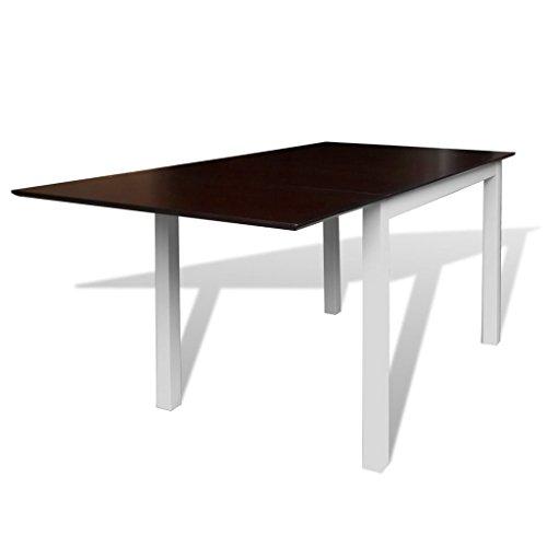 vidaXL Esstisch Ausziehbar MDF Holz 150cm Tisch Esszimmertisch Küchentisch