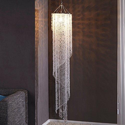 Design XL Hängelampe Kronleuchter BIG STRASS 180cm E27 Kristall Lampe Hängeleuchte