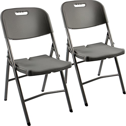 Vanage Klappstuhl in grau - Gartenstuhl im 2er Set - Klappsessel - Gartenmöbel - Stuhl für Garten, Terrasse und Balkon geeignet