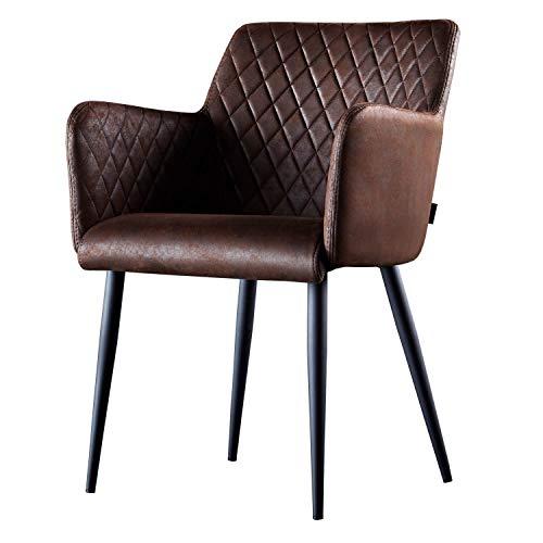Damiware Rose Stuhl | Design Wohnzimmerstuhl Esszimmerstuhle Bürostuhl mit Stoffbezug | (Burgundy)