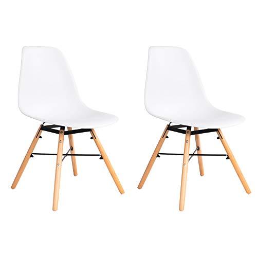 MIFI Eiffel Retro Lounge Stühle Eiffel Stühle 2er Set Esszimmerstühle im Modernen Design (Weiß)