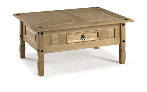 Mercers Furniture Corona Couchtisch, Holz, Antique Wax, 100 x 60 x 45 cm