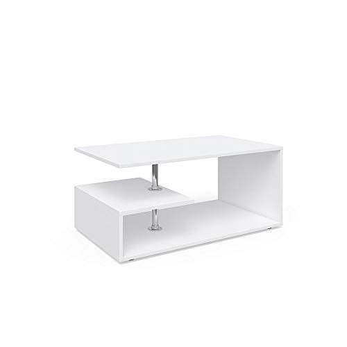Vicco Coffee Table Guillermo Living Room Table White 91x52 Couch Table Side Table